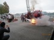 実消火器による操作訓練