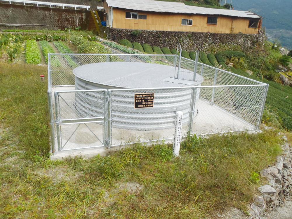 集水井工事の施工完了現場