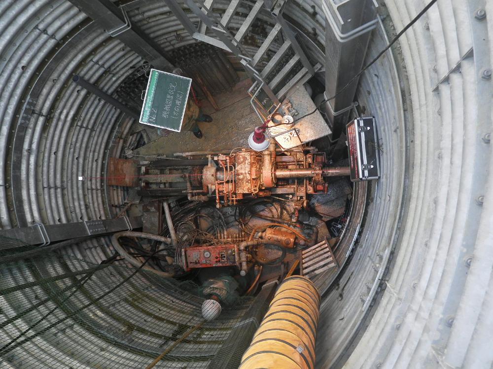 集水井工事の施工状況