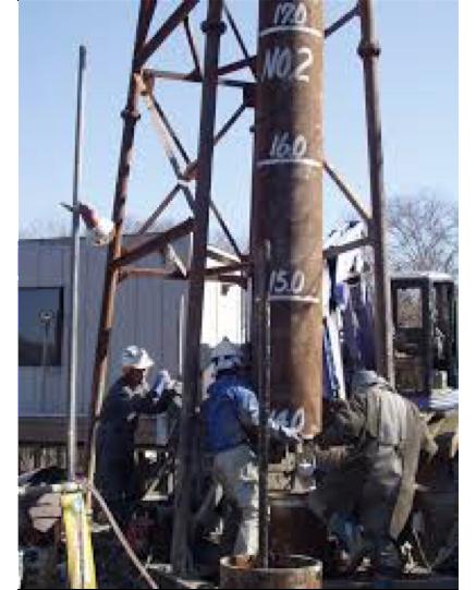 杭工事の施工状況