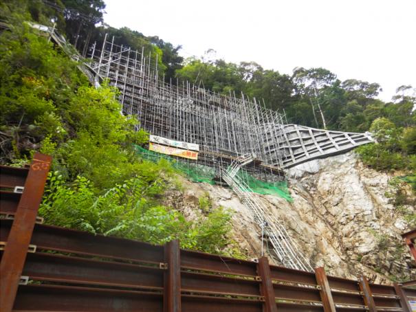 災害復旧工事の現場状況