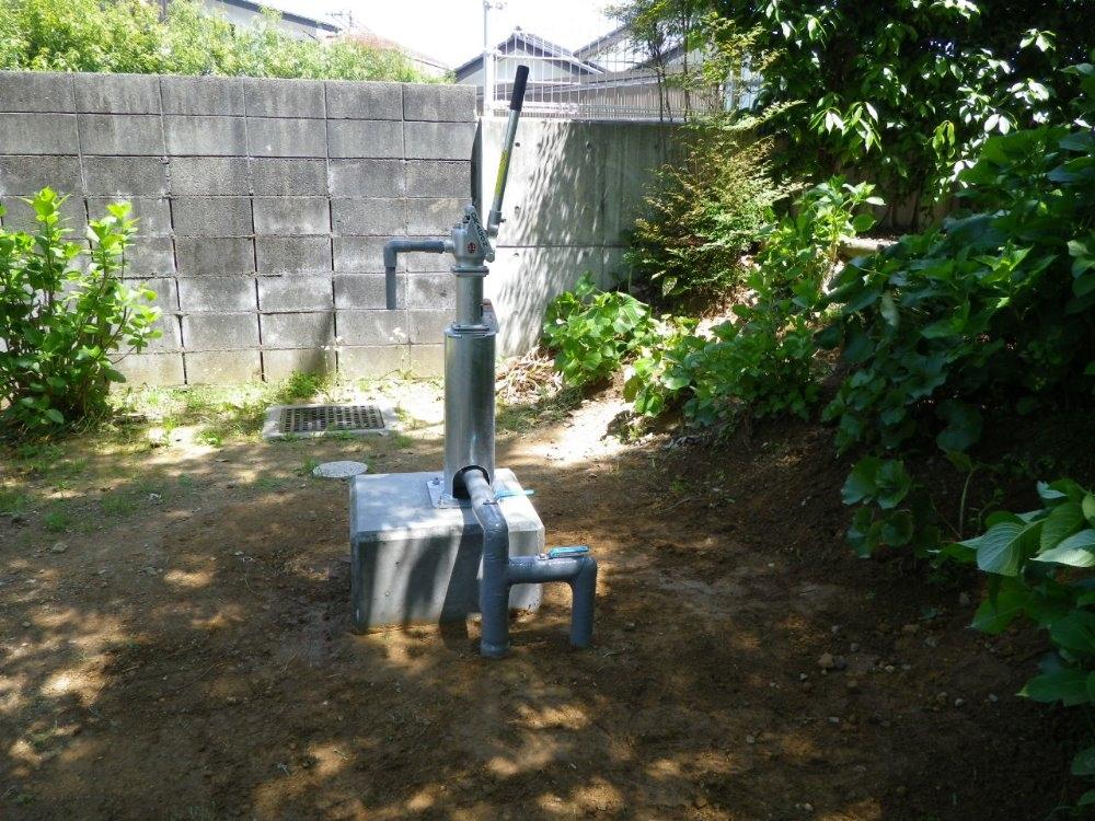 家庭用防災井戸設置完了