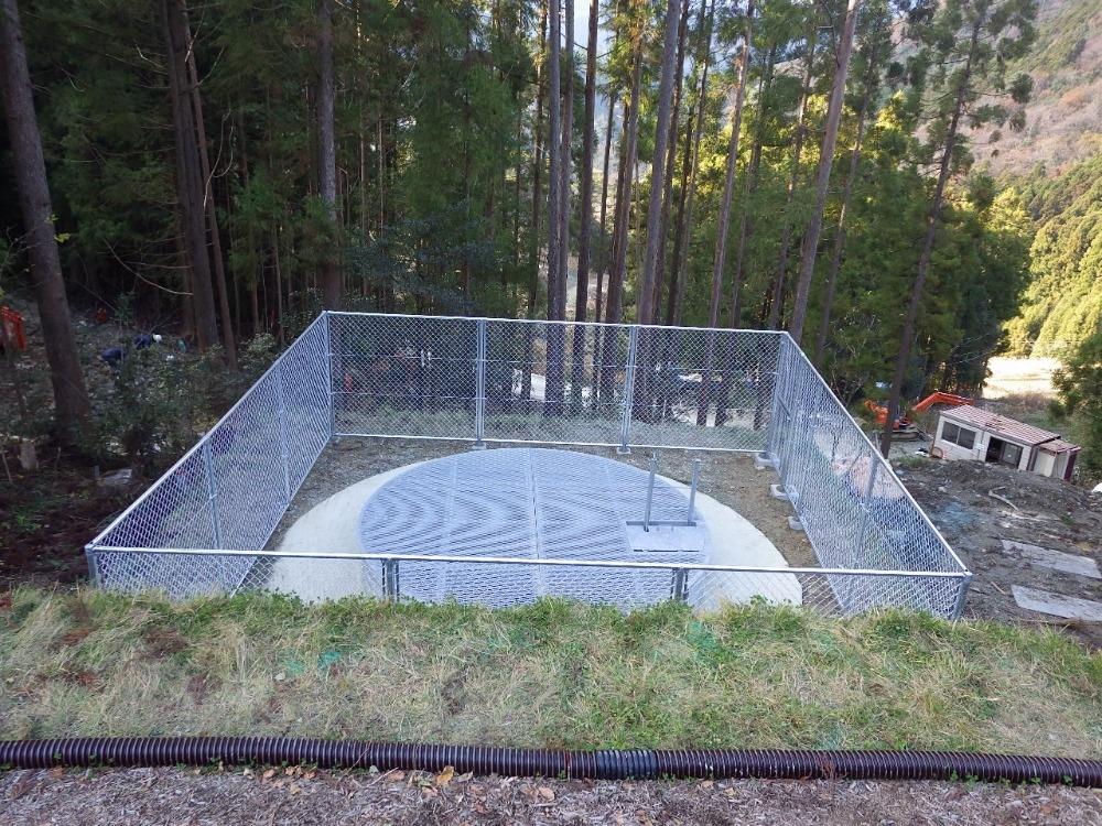 集水井工事の施工完成現場